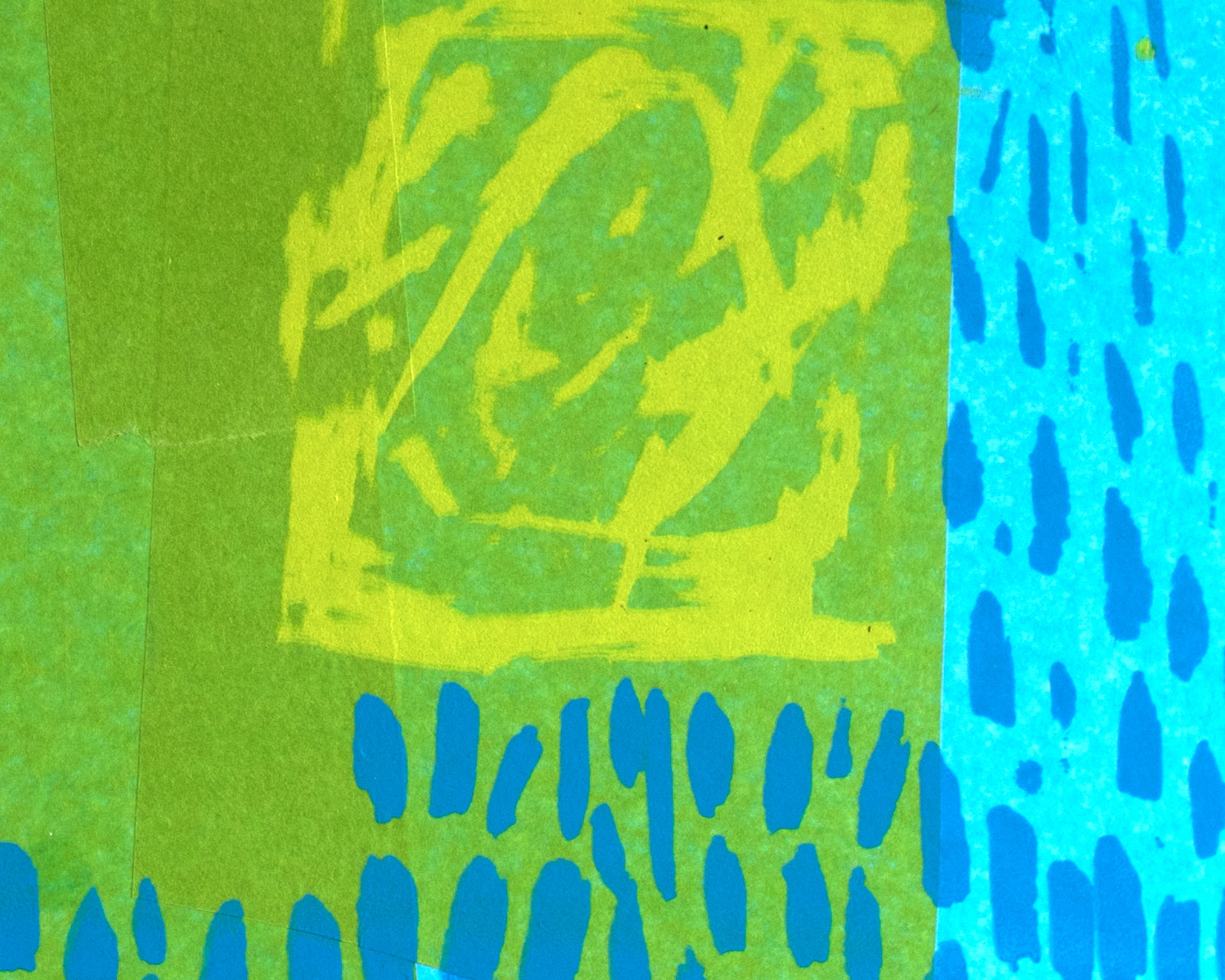 Abstract Print, Screen Print and collage, Printmaker